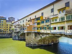 Ponte Vecchio, Florence, Italy (Geert E) Tags: italy florence pontevecchio river yellow toscany arno