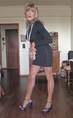Karen (Karen Maris) Tags: tg tgirl tgurl karen legs tranny trannie transgender transsexual transvestite pantyhose tights heels sandals sheer blonde crossdress crossdresser