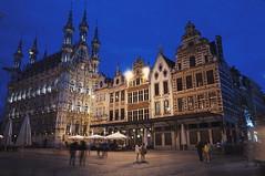 Grote Market by Night (lewist584) Tags: sony sonynex5r nex5r nex emount belgium leuven louvain sigma19mmf28dn art townhall night longexposure grotemarket