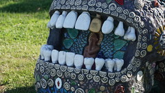 #32 The Storyteller mouth (spelio) Tags: actsep2018shawyassvalleynsw canberra australia sep 2018 rural art sculpture murrumbateman