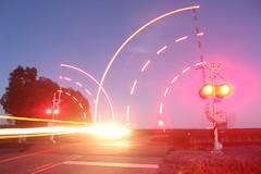 The Wait Is Over (recekasten) Tags: night exposure train railroads cn medina junctiion moon sunset stack