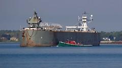 Turning the Defiance/Ashtabula (flannrail) Tags: tug barge ship boat defiance ashtabula washington lakeerie buffalo newyork