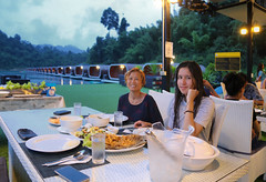 Family dinner at Phutawan Raft House (B℮n) Tags: thailand three rocks karst formations landmark เขาสก khao sok national park jungle oerbos wildlife south wild mammals mountains virgin oldest forest rainforest sandstone limestone mountain 950m monsoon rain erosion asian elephant tiger sambar deer bear guar banteng serow boar pigtailed macaque langur white handed gibbons squirrel muntjak mouse barking boat man trip lake ratchaprapha klong long cheow lan magic phutawan raft house resort kayak kayaking explore adventure greathornbill restroom toilet wc lavatories bathroom 50faves topf50