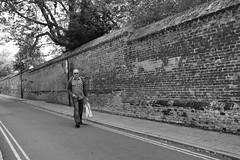I Walk the Road Alone (Bury Gardener) Tags: england eastanglia uk 2018 nikond7200 nikon ely cambridgeshire bw blackandwhite monochrome mono streetphotography street streetcandids snaps strangers candid candids people peoplewatching folks