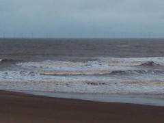 Gale Force Winds Blowing Off The North Sea Into Skegness (Gary Chatterton 5 million Views) Tags: skegness northsea galeforcewinds winds weather sea water nature hauweicamera beach waves greysky stormy flickr explore photography lincolnshire