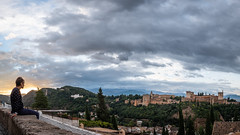 Sunrise over the Alhambra - Granada - Travel photography (Giuseppe Milo (www.pixael.com)) Tags: view alhambra building andalucia city clouds sun spain travel photo photography history sky granada landscape europe geotagged sunrise granadaprovince es onsale
