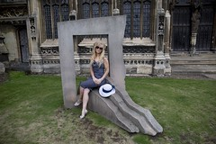 IMG_0292 - Abi (David-Hall) Tags: 2018 portrait woman abi blue cathedral sculpture