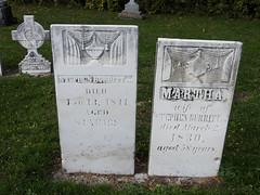 The grave of Stephen Burritt, a veteran of the War of 1812, buried in Burritts Rapid (Ottawa) Ontario (Ullysses) Tags: stephenmburritt burrittsrapids ottawa ontario canada autumn fall automne grave warof1812 veteran soldier soldat unitedempireloyalist uel tombstone christchurchcemetery