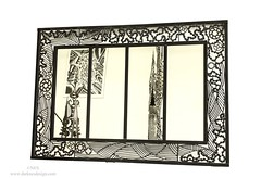 The black mirror -(144,5x100,5x2,5 cm)-Octobre 2018 (Nes Sculptrice Métal) Tags: miroir mirror metal sculpture design darknesdesign sculpteur bordeaux artcontemporain