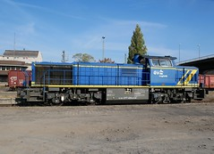 Diesellok (Bahnschulze) Tags: evb logistik bahnhof peine 277 404