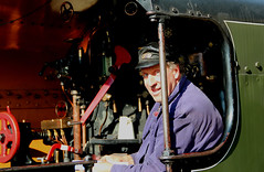 The Steam Train Driver (iwys) Tags: train steam driver engine line horsted keynes station sussex england man uniform cap bluebell