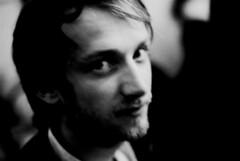 celui qu'on a croisé (asketoner) Tags: portrait paris blur blurry party france man face night beard blonde eyes shadows grain