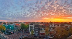 Sunrise above Amsterdam, The Netherlands (Koelman2008) Tags: netherlands dutch view panorama pano sunrise sun samsung galaxy s9 amsterdam jordaan canals grachten unesco heritage outdoor photography photo