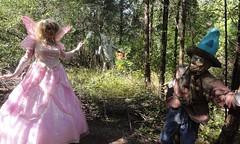Hey, I know these guys! (rgaines) Tags: costume cosplay crossplay drag fairyprincess fairygodmother coxfarms wizardofoz tinman tinwoodsman scarecrow glindathegoodwitch