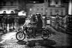 old style military biker (ale_brando) Tags: biker military man streetphotography street roma rome blackwhite mono soldiers night nikonfx fx niksoftware nightlife nightphotography monochrome motionblur motion blur d700
