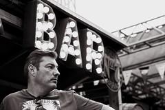 Bar profile (salaminijo) Tags: bar profile man people bw face focus bianconerofotografia monochrome lightandshadows detail canon eos portrait street photoborder lenses schwarzweiss ser outdoor flickr amateur