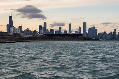Chicago (modestmoze) Tags: chicago city 2018 500px spring march clouds buildings bay water lake waves blue sky tall cityscape marina black lines evening sunset illinois explore travel view new interesting beautiful