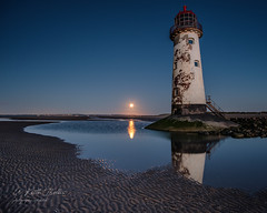 Lunar Attraction :) (keithbellis) Tags: purple lighthouse wales pointofayr northwales flintshire