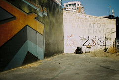 briggs radiator service (jayplorin) Tags: san jose california canon ae1 film graffiti mural buildings city urban kodak gold 200 35mm