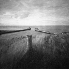 Whitby Harbour (Mark Rowell) Tags: whitby northyorkshire uk pinhole zeroimage zero2000 6x6 120 mediumformat ilford delta expired bw blackandwhite film