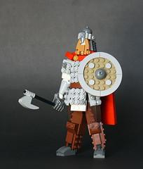 It is the great north wind that made the Vikings. (vir-a-cocha) Tags: lego viking warrior man figure axe beard viracocha