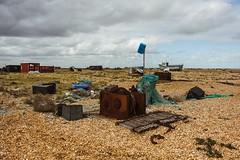 On the shingle (frattonparker) Tags: btonner beach dungeness englishchannel lightroom6 nikond810 rust shingle tamron28300mm win10 debris frattonparker derelict abandoned detritus