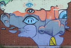 Väggmålning på Tynneredsskolan i Göteborg 2018 (biketommy999) Tags: sverige sweden biketommy999 biketommy göteborg 2018 skola tynnered konst art