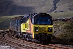 70811 at Ribblehead on 29 Sep 18. (John_Hales) Tags: ribblehead rail railway train trains settle carlisle class70 colas locomotive bleamoor networkrail cumbria yorkshire