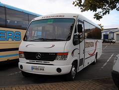 Stringers Travel , Pontefract (Hesterjenna Photography) Tags: stringers travel bus psv coach plaxton cheetah mercedes merc mercedesbenz tour excursion px55aha
