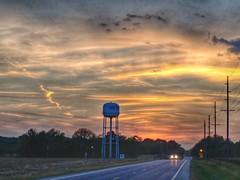 Sunset at the Water Tower (Larry Senalik) Tags: currangardner water tower sunset illinois autumn fall
