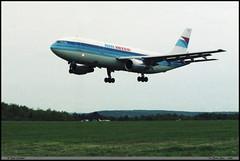 """AIRBUS A300 B2 """"AIR INTER"""" F-GBEB 102 """"La Ferté Alais"""" mai 1986 (paulschaller67) Tags: airbus a300 b2 airinter fgbeb 102 mai 1986 lafertéalais"""