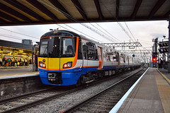 37800 + 378135 - Stratford - 30/08/18. (TRphotography04) Tags: rail operations group rog 37800 cassiopeia drags refurbished london overground 378135 past stratford working 5q87 1926 ilford emud new cross gate csd published the railway magazine october 2018 issue
