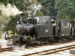 Resting at Oak Tree Halt (WelshHatter2000) Tags: statfoldbarnrailway hunslet 460t 303 wardepartment 1916 1215 worldwarone narrowgauge steam locomotive gala