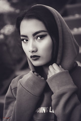 (Øyvind Bjerkholt (Thanks for 58 million+ views)) Tags: hoody hood beautiful gorgeous pretty sexy lips look asian thai woman girl female she outdoors mood intense 50mm dof arendal norway