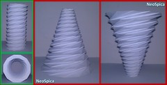 Conical Cylinder Origami Collapsible In Levels Based On Dodecagon (3/5) (NeoSpica / NeoLiveArt) Tags: origami paper fold folding folded conical lampshade pleating pleat pleated corrugation tessellations collapsible structure design cone papercraft handmade cylinder dodecagon levels tube geometric art