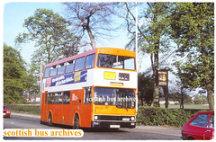 GREATER MANCHESTER PTE 5001 GBU1V (SCOTTISH BUS ARCHIVES) Tags: greatermanchesterpte 5001 gbu1v mcwmetrobus m1443 londonbuses countybusandcoach
