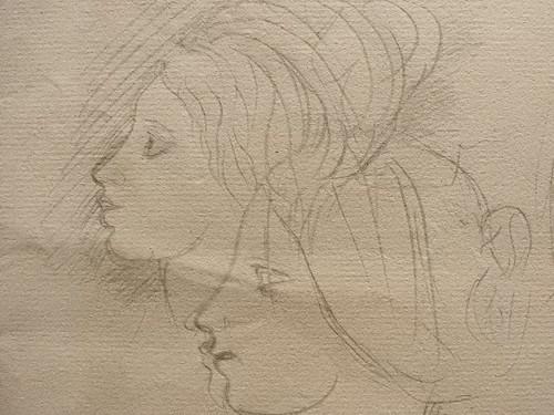 DEGAS Edgar,1858-67 - La Famille Bellelli, Visages et Bras, Etudes (Orsay) - Detail 20