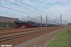 SSN 01 1075 met rhein express in Best (Best Trains) Tags: bewerktefotos stoomtrein nederland noordbrabant best spoorweglaan ssn 01 1075 rhein express stoom