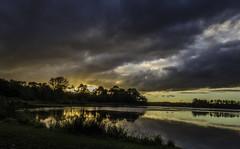 Last Light 3 (DXW1978) Tags: durhamlakewater hardwickhall sunset nature landscapepanasonic lumix fz80 fz82 raw dusk clouds trees