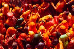 Women Whipping Men with Clothes for Holi, Shri Dauji Temple, Uttar Pradesh India (AdamCohn) Tags: 016kmtobaldevinuttarpradeshindia abeer adamcohn baldev chhabria india shridaujitemple uttarpradesh colors geo:lat=27408301 geo:lon=77821930 geotagged gulal holi play wwwadamcohncom अबीर गुलाल baldeo