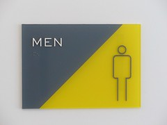 Bright - 23 October 2018 (John Oram) Tags: men toilet sign 2003p1080308e