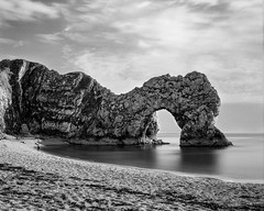 Durdle Door (Adam Clark Photography) Tags: bronica gs1 bigstopper lee filter sea seascape ilford delta rodinal r09 blackandwhite beach beauty landscape bw shootfilm film filters analog analogue 120mm camera development details sharp shadow light lighting
