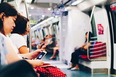 in the MRT, Singapore, May 2018 (darcymillervisuals) Tags: dilip textiles street photography bokeh arab quarter singapore man textile march 2018 a6500 mirrorless best camera sigma 30mm 14 45mm 50mm cloth fabric fan ho henri cartier breson bresson saul leiter people toa payoh harbourfront mrt may o f2