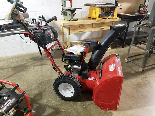 "Like new Troy-Bilt 26"" snow blower ($504.00)"
