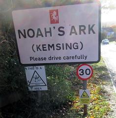 Noah's Ark (paidetres) Tags: heaverham kent walk noahsark kemsing sign ducks