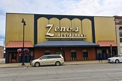 Zenos Restaurant, Marshalltown, IA (Robby Virus) Tags: marshalltown iowa ia zenos pizza restaurant building architecture food sign signage