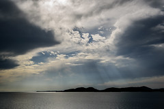 光芒のある風景ー Scenery with the shaft of light (kurumaebi) Tags: yamaguchi 秋穂 山口市 nikon d750 nature landscape 雲 cloud autumn 秋 sky 空