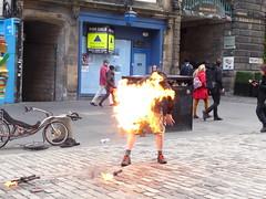 (motoko_69) Tags: don'ttrythisathome juggling firejuggling fire streetentertainment lumixtz70 tz70 scotland edinburgh