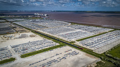 66185 and 66018 at Killingholme (robmcrorie) Tags: 66185 66018 killingholme german audi vw car import humber storage park killingly colliery phantom 4