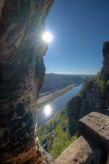 Wasserspiegel (wolf238) Tags: elbe sonne spiegelung wasser elbsandsteingebirge bastei rathen felsen sandstein sächsischeschweiz